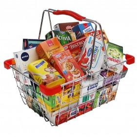 Cesta de la compra de alimentos