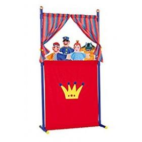 Set de teatro con 4 marionetas