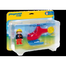 Playmobil 6789 – 1.2.3 Helicóptero de rescate