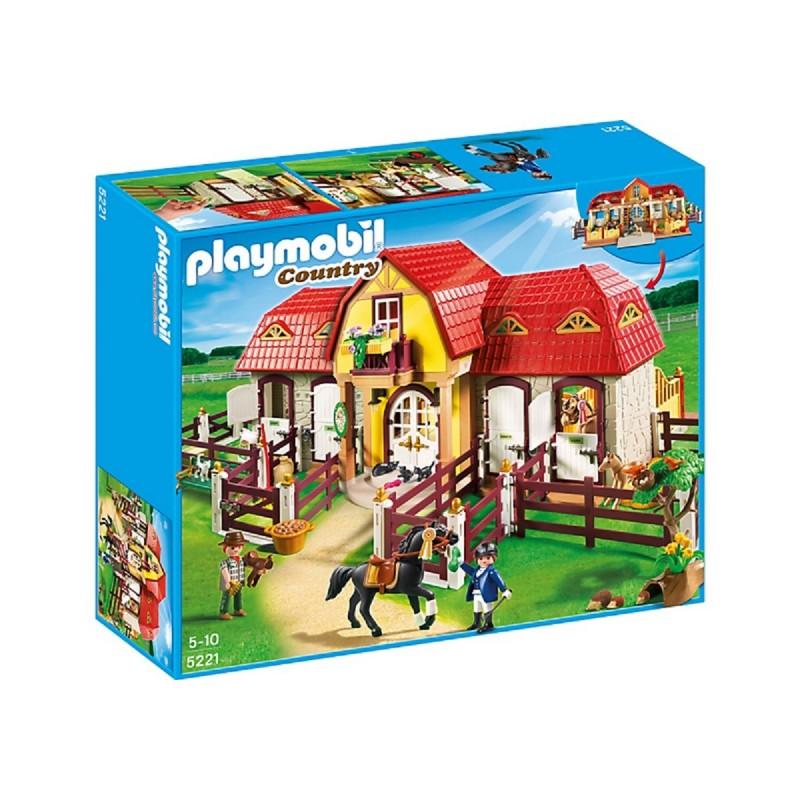 Playmobil 5221 - Granja con establo, caballos, dos figuras y más