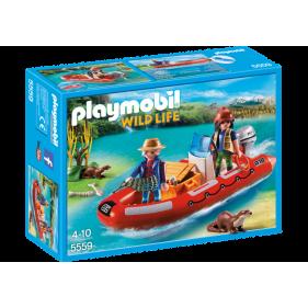 Playmobil 5559 - Bote Hinchable con Exploradores