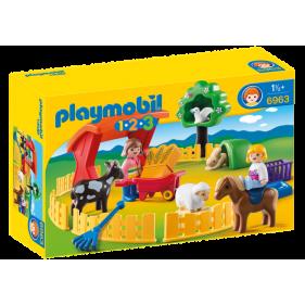 Playmobil 6963 -1.2.3 Recinto de Mascotas