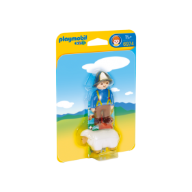 Playmobil 6974 - 1.2.3 Granjero con Oveja