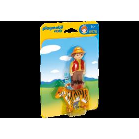 Playmobil 6976 - 1.2.3 Adiestrador con Tigre