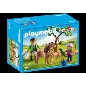Playmobil 6949 - Veterinario con Ponis