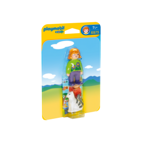 Playmobil 6975 - 1.2.3 Mujer con Gato