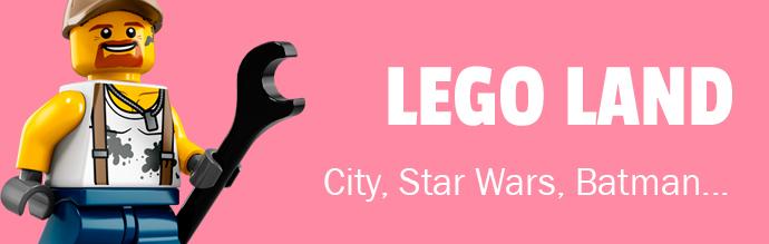 Lego Land, Lego Stars Wars, Lego City....